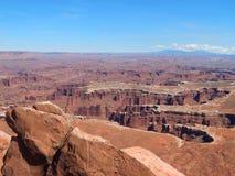 Vagga bildandelabyrint i den Canyonlands nationalparken Utah Arkivbilder