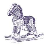 Vagga den drog hästhanden stock illustrationer