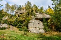 Vagga den komplexa Ternoshor fristaden i Snidavka Carpathian mountai Royaltyfria Bilder