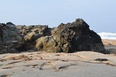 Vagga eller s?tta p? land stenar p? stranden 02 royaltyfri bild