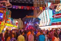 Vagga etappen på den Fremont gatan, Las Vegas, Nevada Arkivbilder