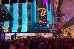 Vagga etappen på den Fremont gatan, Las Vegas, Nevada Royaltyfri Foto