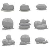 Vagga för beståndsdelvektorn för stenen fastställd konst Royaltyfri Fotografi
