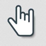 Vagga förestående teckenmarkörsymbolen Vektorillustration med Royaltyfri Foto