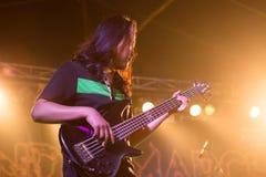 Vagga gitarristen som är levande royaltyfria bilder