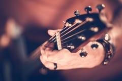 Vagga gitarrspelaren arkivfoton
