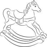 Vagga hästen royaltyfri foto