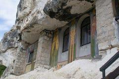 Vagga-högg ut kyrkor av Ivanovo, Bulgarien arkivfoto