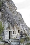 Vagga-högg ut kyrkor av Ivanovo, Bulgarien royaltyfria bilder