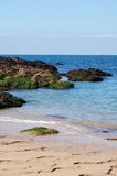 Vagga havskusten Bretagne Frankrike Royaltyfri Foto