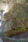 Vagga i grottan Devetakskoy, Bulgarien Arkivbild