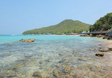 Vagga i havs- och bergmiljö Arkivfoto