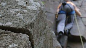 Vagga klättrareräckviddöverkanten lager videofilmer