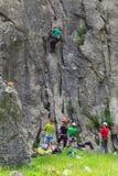 Vagga klättringen, Vratza, Bulgarien arkivbild