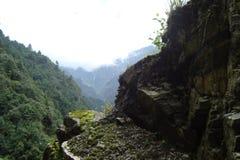 Vagga klippan i Yunnan Royaltyfri Fotografi