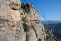Vagga klippan på montserrat, Spanien Arkivbilder
