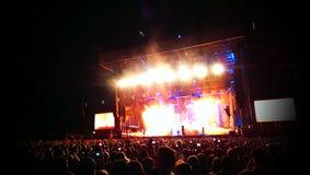 Vagga konserten Fotografering för Bildbyråer