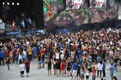 Vagga konserten Royaltyfria Bilder