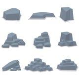 Vagga konst för vektorn för stenuppsättningobjekt Royaltyfri Bild