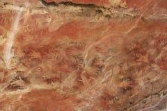 Vagga konst på Ubirr, kakadunationalparken, Australien Arkivfoto