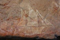 Vagga konst på Ubirr, kakadunationalparken, Australien Royaltyfri Foto