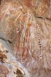Vagga konst på Ubirr, kakadunationalparken, Australien Arkivbild