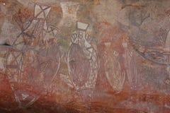 Vagga konst på Ubirr, kakadunationalparken, Australien Royaltyfria Bilder