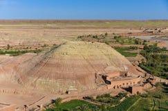 Vagga kullen, Ait Ben Haddou, Marocko Arkivfoton