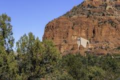 Vagga kyrkan på Sedona Arizona arkivbilder