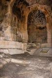 Vagga kyrkliga St Peter av Monterrone Matera Basilicata Apulia eller Puglia italy Royaltyfria Foton