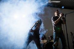 Vagga musik på etapp Fotografering för Bildbyråer