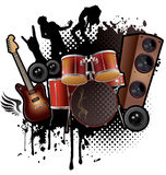 Vagga musikabstrakt begrepp Arkivbild