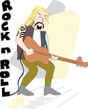 Gitarrman Arkivbild