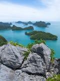 Vagga och gruppen av öar royaltyfria foton