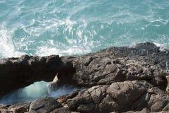 Vagga och havet Arkivbilder