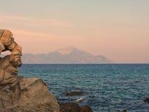 Vagga och havet Arkivfoton
