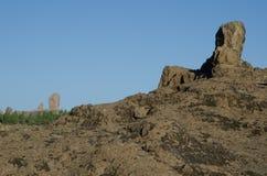 Vagga och Roque Nublo arkivbild