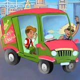 Vagga - och - rullskåpbilen vektor illustrationer