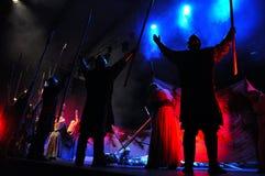 Vagga operan, dräktlek direkt på etappen Royaltyfri Foto