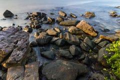Vagga på strand Arkivfoto