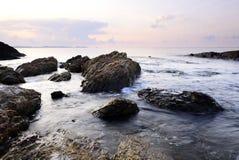 Vagga på stranden Fotografering för Bildbyråer