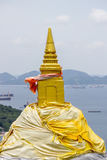 Vagga pagoden på Koh Sichang i det Chonburi landskapet, Thailand Arkivfoton