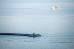 Vagga pir, Salerno, Italien Arkivfoton
