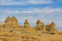 Vagga platser av Cappadocia, Kapadokya, Turkiet Royaltyfri Fotografi
