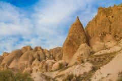 Vagga platser av Cappadocia, Kapadokya, Turkiet Fotografering för Bildbyråer
