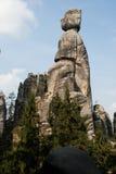 Vagga staden, Aderspach Rocks i den tjeckiska republiken. Royaltyfri Fotografi