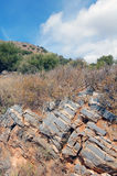Vagga strukturen på berget på Kretaön Grekland Royaltyfria Foton