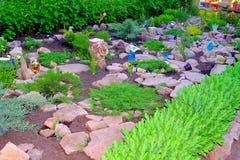 Vagga trädgården Fotografering för Bildbyråer