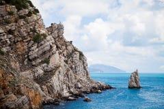Vagga vid havet Krim Royaltyfria Bilder