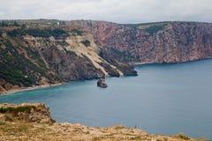 Vagga vid havet Krim Arkivfoton